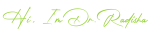 Dr. Radisha New Logo Variations 300x66
